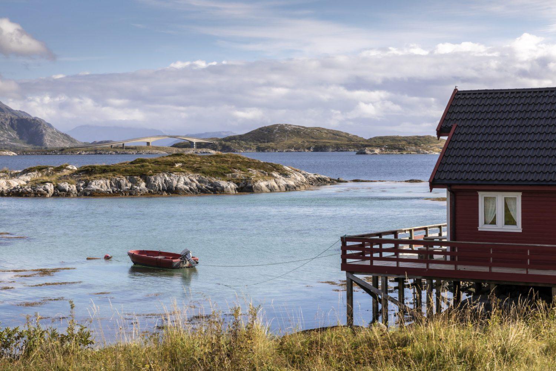 cottage on island Heroy, Norway